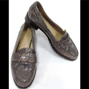 Coach Palmer Loafers A7530 Printed Snake